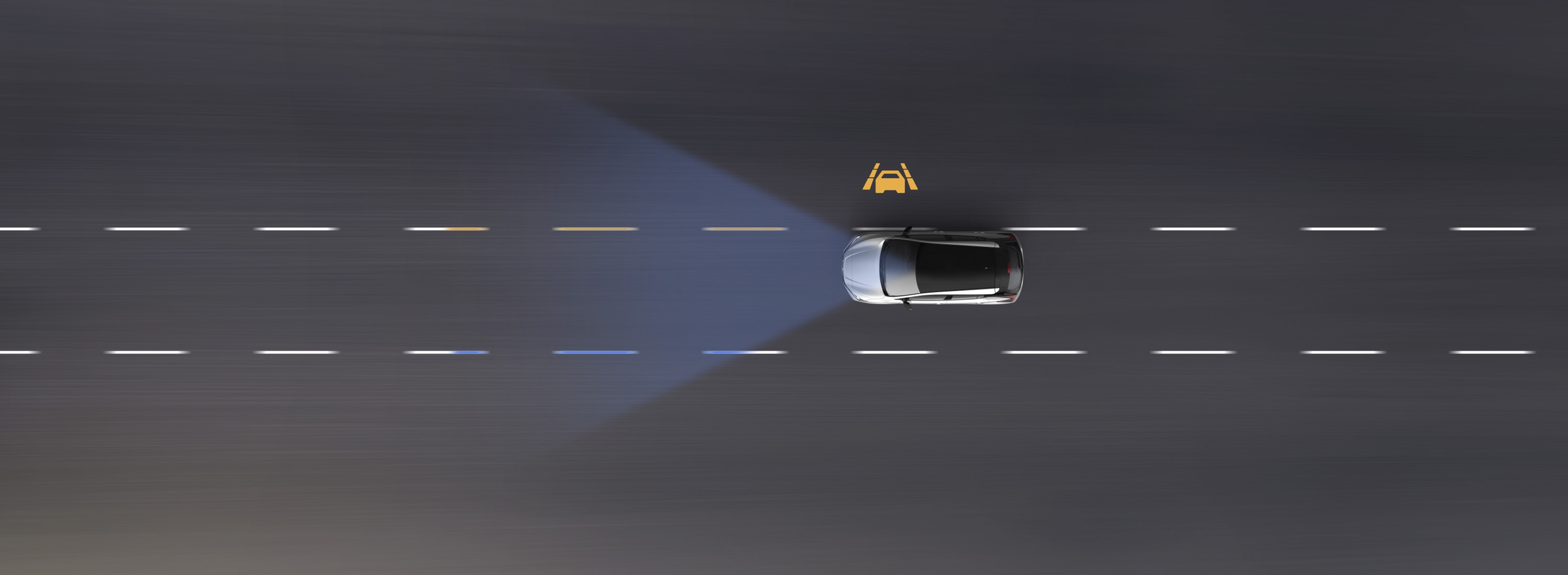 Nissan LEAF Intelligent Lane Intervention animation