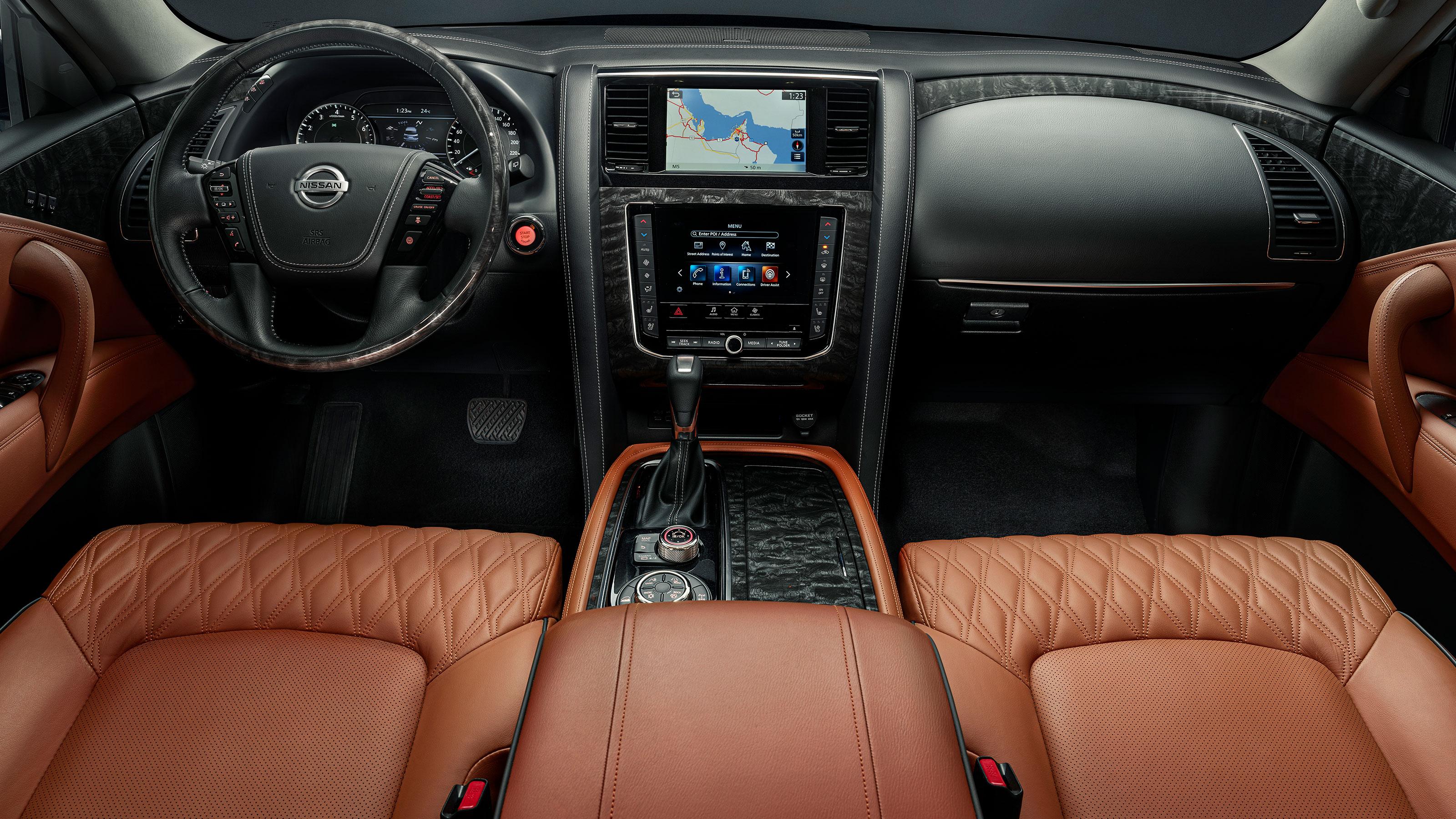 2020 NISSAN PATROL interior cockpit and screens