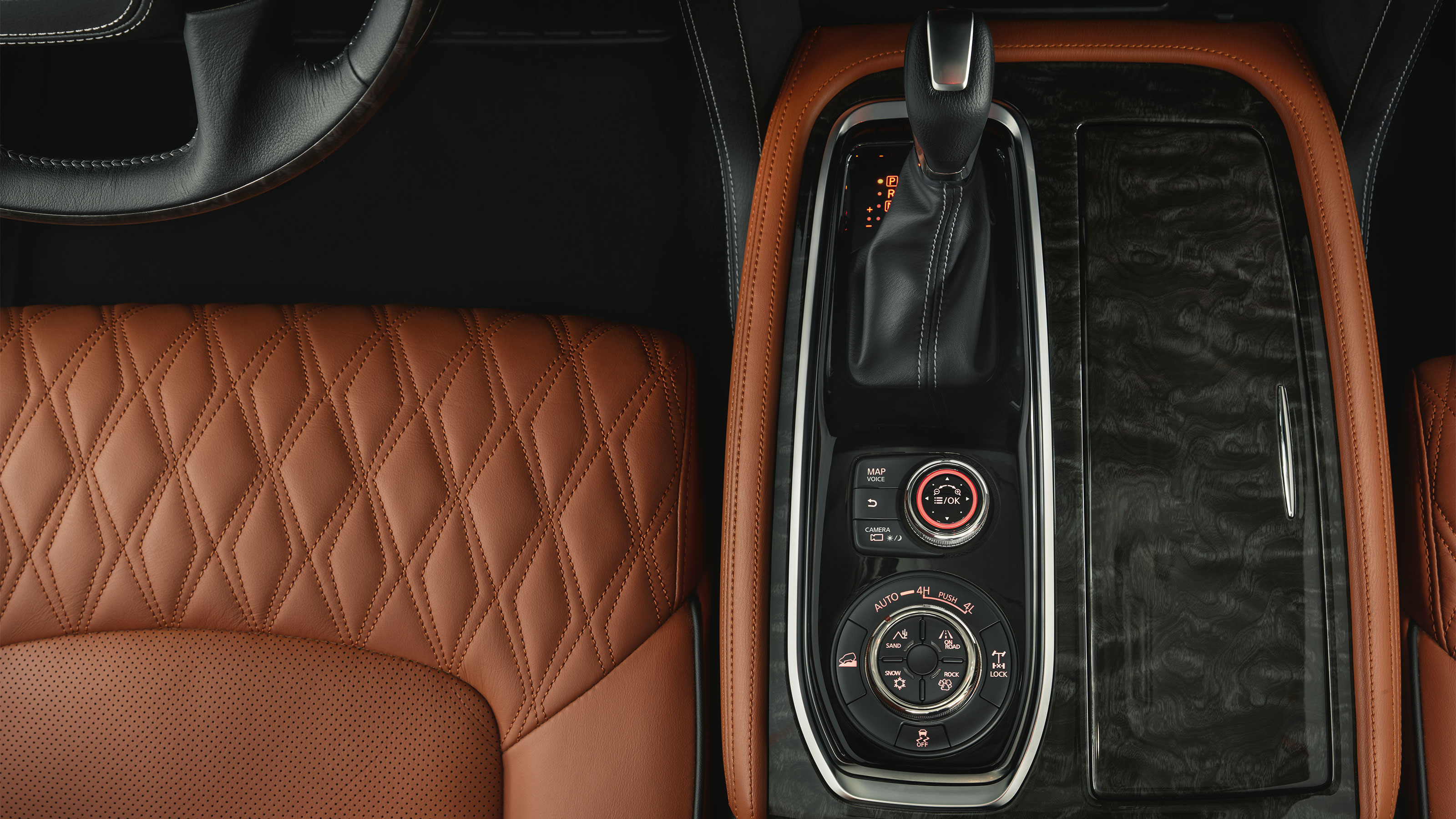 2020 NISSAN PATROL gear stick and drive mode switch