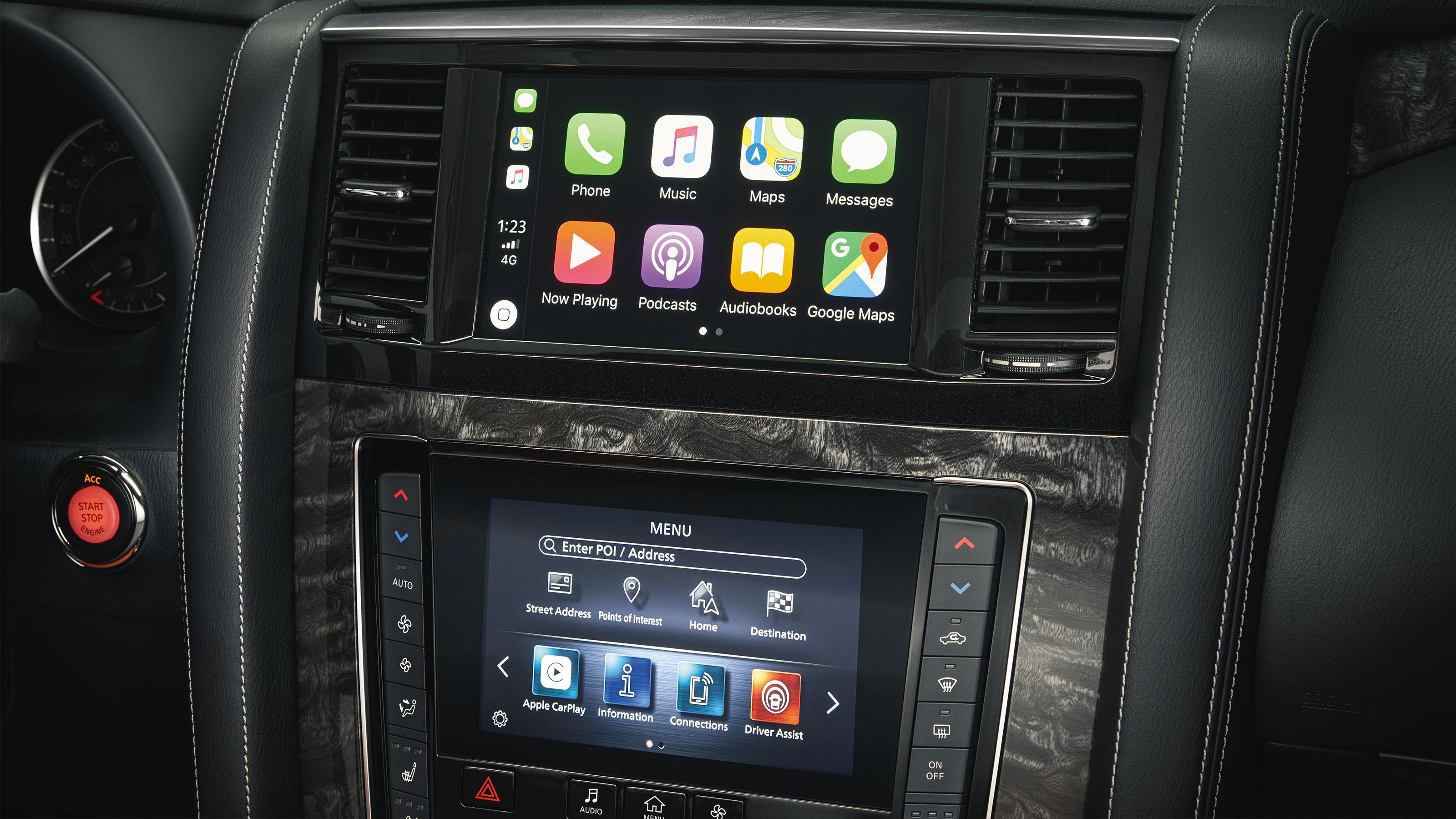 2020 NISSAN PATROL dual HD touchscreens