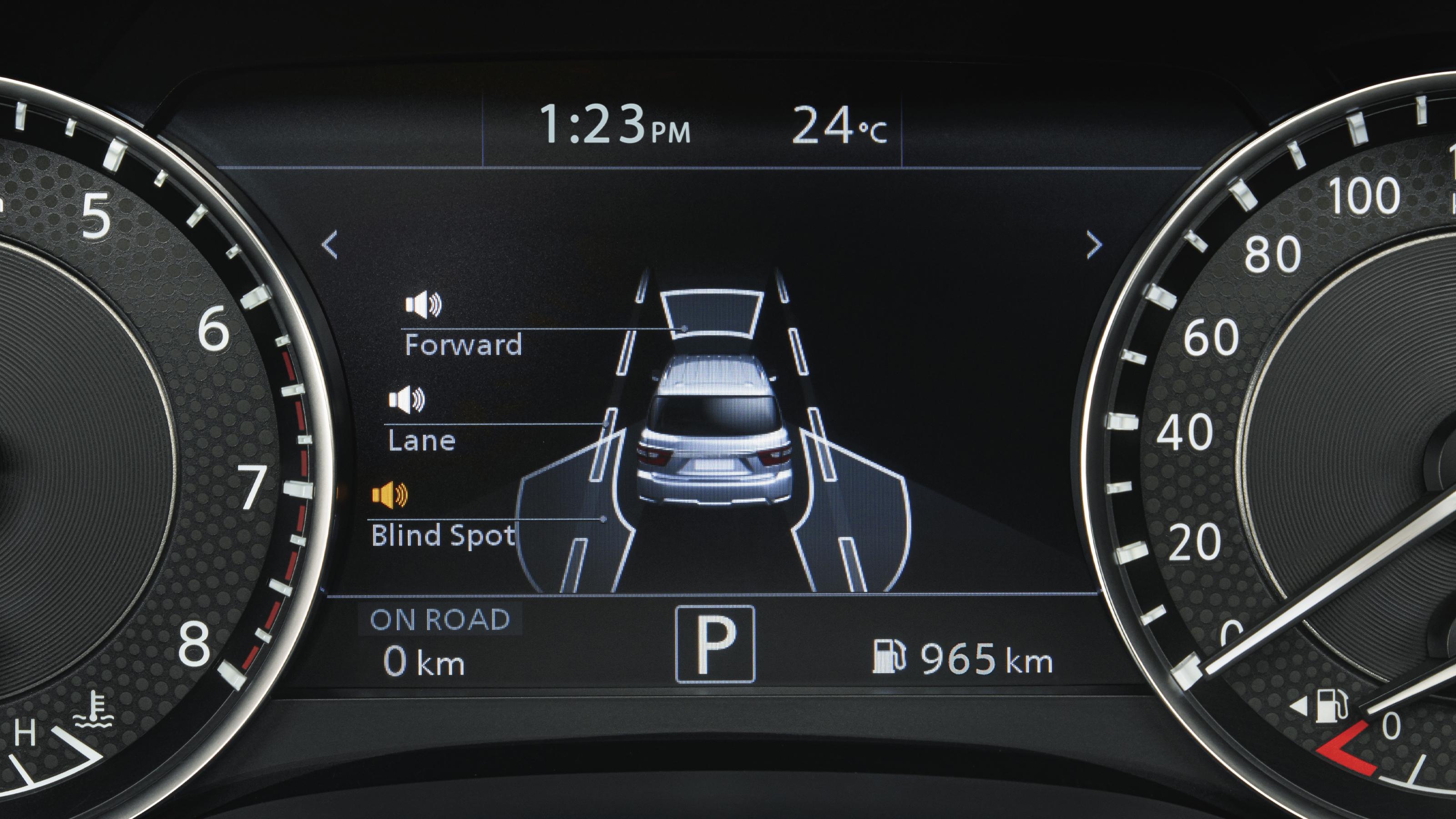 2020 NISSAN PATROL driver information display